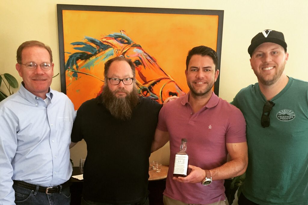 The tasting team. Chris Morris, Chris Kafcas, Ryan Marks, and EJ