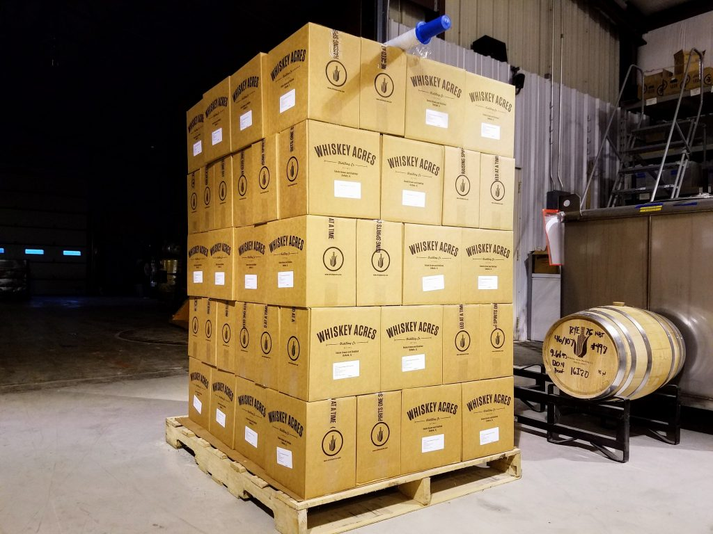 600 bottles of Bourbon, packed and ready to ship