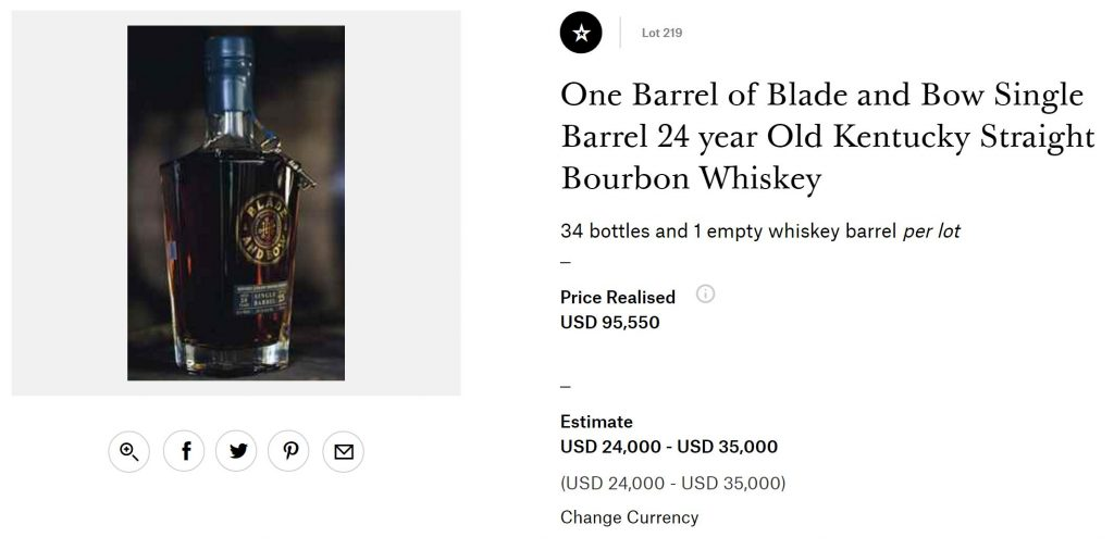 Blade & Bow Barrel Sells For $95,550